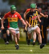 19 May 2019; David English of Carlow in action against Alan Murphy of Kilkenny during the Leinster GAA Hurling Senior Championship Round 2 match between Carlow and Kilkenny at Netwatch Cullen Park in Carlow. Photo by Ben McShane/Sportsfile