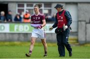 19 May 2019; Kieran Molloy of Galway leaves the field with an injury during the Connacht GAA Football Senior Championship semi-final match between Sligo and Galway at Markievicz Park in Sligo. Photo by Harry Murphy/Sportsfile