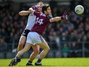 19 May 2019; Ian Burke of Galway in action against Paul Kilcoyne of Sligo during the Connacht GAA Football Senior Championship semi-final match between Sligo and Galway at Markievicz Park in Sligo. Photo by Harry Murphy/Sportsfile