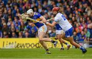 19 May 2019; Padraic Maher of Tipperary  in action against Maurice Shanahan of Waterford  during the Munster GAA Hurling Senior Championship Round 2 match between Tipperary and Waterford at Semple Stadium, Thurles in Tipperary. Photo by Ray McManus/Sportsfile