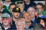 19 May 2019; Singer Niall Horan alongside former Limerick manager Joe McKenna in attendance at the Munster GAA Hurling Senior Championship Round 2 match between Limerick and Cork at the LIT Gaelic Grounds in Limerick. Photo by Piaras Ó Mídheach/Sportsfile