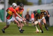 19 May 2019; Alan Murphy of Kilkenny in action against Kevin McDonald, left, and John Nolan of Carlow during the Leinster GAA Hurling Senior Championship Round 2 match between Carlow and Kilkenny at Netwatch Cullen Park in Carlow. Photo by Ben McShane/Sportsfile
