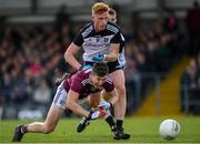 19 May 2019; Johnny Heaney of Galway in action against Seán Carrabine of Sligo during the Connacht GAA Football Senior Championship semi-final match between Sligo and Galway at Markievicz Park in Sligo. Photo by Harry Murphy/Sportsfile