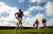 19 May 2019; Galway players run out for the second half during the Connacht GAA Football Senior Championship semi-final match between Sligo and Galway at Markievicz Park in Sligo. Photo by Harry Murphy/Sportsfile