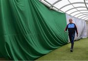 19 May 2019; Limerick manager John Kiely makes his way to the pitch before the Munster GAA Hurling Senior Championship Round 2 match between Limerick and Cork at the LIT Gaelic Grounds in Limerick. Photo by Piaras Ó Mídheach/Sportsfile