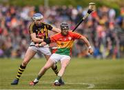 19 May 2019; Richard Coady of Carlow in action against TJ Reid of Kilkenny during the Leinster GAA Hurling Senior Championship Round 2 match between Carlow and Kilkenny at Netwatch Cullen Park in Carlow. Photo by Ben McShane/Sportsfile