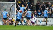 19 May 2019; Dublin players react to their side's late goal during the Leinster GAA Hurling Senior Championship Round 2 match between Dublin and Wexford at Parnell Park in Dublin. Photo by Daire Brennan/Sportsfile