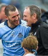 19 May 2019; Eamon Dillon of Dublin and Dublin manager Mattie Kenny after the Leinster GAA Hurling Senior Championship Round 2 match between Dublin and Wexford at Parnell Park in Dublin. Photo by Daire Brennan/Sportsfile