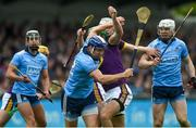 19 May 2019; Conal Keaney of Dublin in action against Matthew O'Hanlon of Wexford during the Leinster GAA Hurling Senior Championship Round 2 match between Dublin and Wexford at Parnell Park in Dublin. Photo by Daire Brennan/Sportsfile
