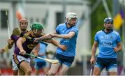 19 May 2019; Shane Barrett of Dublin in action against Matthew O'Hanlon of Wexford during the Leinster GAA Hurling Senior Championship Round 2 match between Dublin and Wexford at Parnell Park in Dublin. Photo by Daire Brennan/Sportsfile
