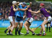 19 May 2019; Conal Keaney of Dublin in action against Wexford players, left to right, Liam Ryan, Matthew O'Hanlon, and Matthew O'Hanlon during the Leinster GAA Hurling Senior Championship Round 2 match between Dublin and Wexford at Parnell Park in Dublin. Photo by Daire Brennan/Sportsfile