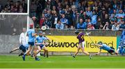 19 May 2019; Liam Óg McGovern of Wexford scores his side's first goal during the Leinster GAA Hurling Senior Championship Round 2 match between Dublin and Wexford at Parnell Park in Dublin. Photo by Daire Brennan/Sportsfile