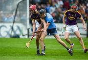 19 May 2019; Caolán Conway of Dublin in action against Paudie Foley of Wexford during the Leinster GAA Hurling Senior Championship Round 2 match between Dublin and Wexford at Parnell Park in Dublin. Photo by Daire Brennan/Sportsfile