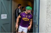 19 May 2019; Wexford captain Matthew O'Hanlon leads his side out ahead of the Leinster GAA Hurling Senior Championship Round 2 match between Dublin and Wexford at Parnell Park in Dublin. Photo by Daire Brennan/Sportsfile