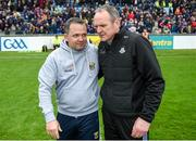 19 May 2019; Dublin manager Mattie Kenny and Wexford manager Davy Fitzgerald after the Leinster GAA Hurling Senior Championship Round 2 match between Dublin and Wexford at Parnell Park in Dublin. Photo by Daire Brennan/Sportsfile