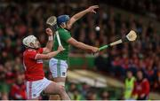 19 May 2019; Mike Casey of Limerick in action against Patrick Horgan of Cork during the Munster GAA Hurling Senior Championship Round 2 match between Limerick and Cork at the LIT Gaelic Grounds in Limerick. Photo by Diarmuid Greene/Sportsfile