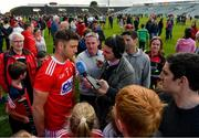19 May 2019; Eoin Cadogan of Cork is interviewed by Liam Aherne of RTE after the Munster GAA Hurling Senior Championship Round 2 match between Limerick and Cork at the LIT Gaelic Grounds in Limerick. Photo by Diarmuid Greene/Sportsfile