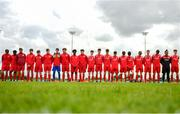 19 May 2019; The Cork squad ahead of the Under 16 SFAI Subway Championship Final match between DDSL and Cork at Mullingar Athletic in Gainstown, Westmeath. Photo by Ramsey Cardy/Sportsfile