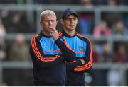 19 May 2019; Limerick manager John Kiely, left, and coach Paul Kinnerk during the Munster GAA Hurling Senior Championship Round 2 match between Limerick and Cork at the LIT Gaelic Grounds in Limerick. Photo by Diarmuid Greene/Sportsfile