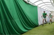 19 May 2019; Limerick players Declan Hannon, left, and Nickie Quaid make their way to the pitch before the Munster GAA Hurling Senior Championship Round 2 match between Limerick and Cork at the LIT Gaelic Grounds in Limerick. Photo by Piaras Ó Mídheach/Sportsfile