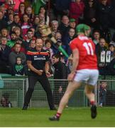 19 May 2019; Cork manager John Meyler during the Munster GAA Hurling Senior Championship Round 2 match between Limerick and Cork at the LIT Gaelic Grounds in Limerick. Photo by Diarmuid Greene/Sportsfile