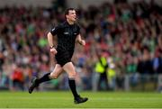 19 May 2019; Referee Paud O'Dwyer during the Munster GAA Hurling Senior Championship Round 2 match between Limerick and Cork at the LIT Gaelic Grounds in Limerick. Photo by Piaras Ó Mídheach/Sportsfile