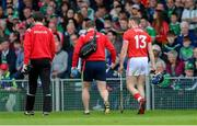 19 May 2019; Conor Lehane of Cork leaves the field after picking up an injury early in the first half during the Munster GAA Hurling Senior Championship Round 2 match between Limerick and Cork at the LIT Gaelic Grounds in Limerick. Photo by Piaras Ó Mídheach/Sportsfile