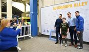 18 May 2019; Fans have their picture taken with Rob Kearney, Adam Byrne and Conor O'Brien of Leinster at the Guinness PRO14 semi-final match between Leinster and Munster at the RDS Arena in Dublin. Photo by Harry Murphy/Sportsfile