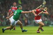 19 May 2019; Alan Cadogan of Cork in action against Seán Finn of Limerick during the Munster GAA Hurling Senior Championship Round 2 match between Limerick and Cork at the LIT Gaelic Grounds in Limerick. Photo by Diarmuid Greene/Sportsfile