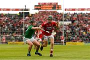 19 May 2019; Mark Coleman of Cork in action against Peter Casey of Limerick during the Munster GAA Hurling Senior Championship Round 2 match between Limerick and Cork at the LIT Gaelic Grounds in Limerick. Photo by Diarmuid Greene/Sportsfile