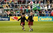 19 May 2019; Sisters Mairead Purcell, aged 3, left, and Clodagh Purcell, aged 5, from the CBS Pipe Band, prior to the Munster GAA Hurling Senior Championship Round 2 match between Limerick and Cork at the LIT Gaelic Grounds in Limerick. Photo by Diarmuid Greene/Sportsfile