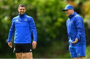 20 May 2019; Backs coach Felipe Contepomi, right, in conversation with Rob Kearney during Leinster Rugby squad training at Rosemount in UCD, Dublin. Photo by Ramsey Cardy/Sportsfile