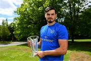 20 May 2019; Max Deegan receives the Bank of Ireland Player of the Month Award for March at Leinster Rugby Headquarters in UCD, Dublin. Photo by Ramsey Cardy/Sportsfile