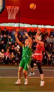 18 May 2019; Grainne Dwyer of Fr Mathews Basketball Club in action against Ailbhe O'Connor of Liffey Celtics Basketball Club in the Womens Final between Liffey Celtics and  Fr Mathews Basketball Club at the second annual Hula Hoops 3x3 Basketball Championships at Bray Seafront in Co.Wicklow. Photo by Ray McManus/Sportsfile