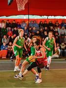 18 May 2019; Grainne Dwyer of Fr Mathews Basketball Club in action against Ciara Bracken of Liffey Celtics Basketball Club in the Womens Final between Liffey Celtics and  Fr Mathews Basketball Club at the second annual Hula Hoops 3x3 Basketball Championships at Bray Seafront in Co.Wicklow. Photo by Ray McManus/Sportsfile