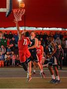 18 May 2019; Puff Summers of Templeogue Basketball Club in action against Shane O'Connor of Ulster University Elks Basketball during the Mens Final between Ulster University Elks Basketball and Templeogue Basketball Club at the second annual Hula Hoops 3x3 Basketball Championships at Bray Seafront in Co.Wicklow. Photo by Ray McManus/Sportsfile
