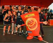 18 May 2019; Ulster University Elks Basketball players and supporters celebrat after the Mens Final between Ulster University Elks Basketball and Templeogue Basketball Club at the second annual Hula Hoops 3x3 Basketball Championships at Bray Seafront in Co.Wicklow. Photo by Ray McManus/Sportsfile