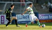 20 May 2019; Aaron Greene of Shamrock Rovers before turning to shoot against Peter Burke of Finn Harps, to score his sides first goal during the SSE Airtricity League Premier Division match between Finn Harps v Shamrock Rovers at Finn Park in Ballybofey, Co.Donegal. Photo by Oliver McVeigh/Sportsfile