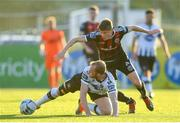 20 May 2019; Chris Shields of Dundalk in action against Ryan Swan of Bohemians during the SSE Airtricity League Premier Division match between Dundalk and Bohemians at Oriel Park in Dundalk, Louth. Photo by Ramsey Cardy/Sportsfile