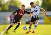 20 May 2019; Luke Wade-Slater of Bohemians in action against Dane Massey of Dundalk during the SSE Airtricity League Premier Division match between Dundalk and Bohemians at Oriel Park in Dundalk, Louth. Photo by Ramsey Cardy/Sportsfile