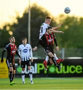 20 May 2019; Robbie McCourt of Bohemians in action against Daniel Cleary of Dundalk during the SSE Airtricity League Premier Division match between Dundalk and Bohemians at Oriel Park in Dundalk, Louth. Photo by Ramsey Cardy/Sportsfile