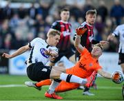 20 May 2019; Georgie Kelly of Dundalk has a shot at goal past Bohemians goalkeeper James Talbot during the SSE Airtricity League Premier Division match between Dundalk and Bohemians at Oriel Park in Dundalk, Louth. Photo by Ramsey Cardy/Sportsfile