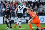 20 May 2019; Georgie Kelly of Dundalk celebrates after scoring his side's first goal of the game during the SSE Airtricity League Premier Division match between Dundalk and Bohemians at Oriel Park in Dundalk, Louth. Photo by Ramsey Cardy/Sportsfile