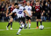 20 May 2019; Patrick Hoban of Dundalk shoots to score his side's second goal of the game from the penalty spot during the SSE Airtricity League Premier Division match between Dundalk and Bohemians at Oriel Park in Dundalk, Louth. Photo by Ramsey Cardy/Sportsfile