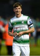 20 May 2019; A happy Ronan Finn of Shamrock Rovers comes off after the SSE Airtricity League Premier Division match between Finn Harps v Shamrock Rovers at Finn Park in Ballybofey, Co.Donegal. Photo by Oliver McVeigh/Sportsfile
