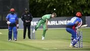21 May 2019; Barry McCarthy of Ireland bowls during the GS Holdings ODI Challenge between Ireland and Afghanistan at Stormont in Belfast. Photo by Oliver McVeigh/Sportsfile