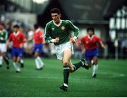 22 May 1991; Roy Keane, Republic of Ireland, makes his debut against Chile at Lansdowne Road, Dublin. Soccer. Photo by David Maher/Sportsfile