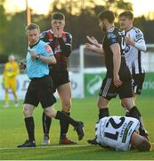 20 May 2019; Ryan Graydon of Bohemians reacts before being shown a red card by referee Derek Michael Tomney during the SSE Airtricity League Premier Division match between Dundalk and Bohemians at Oriel Park in Dundalk, Louth. Photo by Ramsey Cardy/Sportsfile