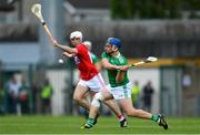 19 May 2019; Mike Casey of Limerick in action against Luke Meade of Cork during the Munster GAA Hurling Senior Championship Round 2 match between Limerick and Cork at the LIT Gaelic Grounds in Limerick. Photo by Piaras Ó Mídheach/Sportsfile
