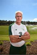 21 May 2019; Republic of Ireland manager Mick McCarthy poses for a portrait following a media update at The Campus, Quinta do Lago in Faro, Portugal.  Photo by Seb Daly/Sportsfile